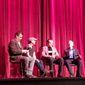 From left: Richard Roeper, producer Jon Kilik, Chazz Palminteri and Leonard Maltin at Ebertfest 2015.