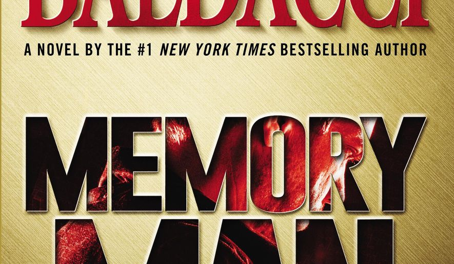 "This book cover image released by Grand Central Publishing shows ""Memory Man,"" by David Baldacci. (AP Photo/Grand Central Publishing)"