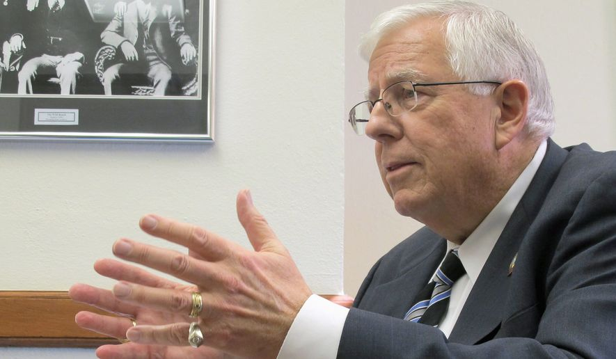 """Our work today and in the coming weeks will show hardworking taxpayers that Congress is committed to a government that's more effective and more accountable,"" said Sen. Mike Enzi, Wyoming Republican. (Associated Press)"