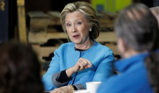 Hillary Rodham Clinton has been under intense pressure from her Democratic Party's left wing to embrace a plan to expand Social Security benefits and pay for it with increased taxes on wealthy Americans. (Associated Press)