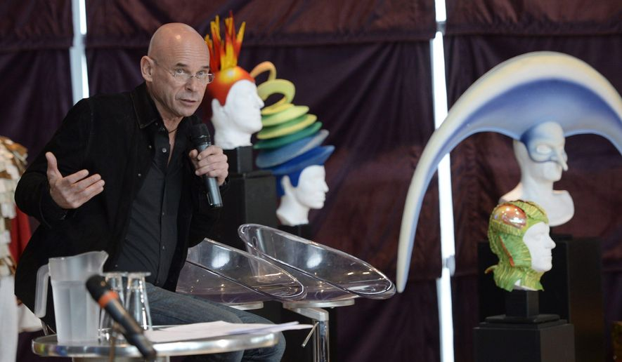 Cirque du Soleil founder Guy Laliberte speaks at a news conference in Montreal Monday, April 20, 2015. Cirque du Soleil has signed a deal to sell a majority stake in the famed circus group to U.S. private equity firm TPG for an undisclosed price.  (Ryan Remiorz/The Canadian Press via AP)   MANDATORY CREDIT