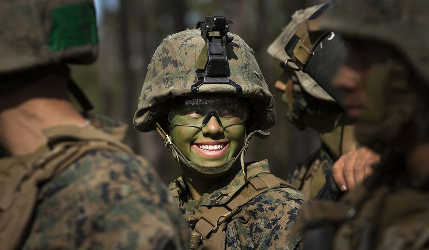 A female member of the U.S. armed forces. (U.S. Marine Corps photo)