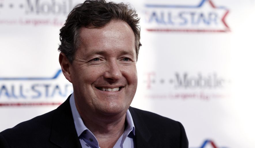 Piers Morgan arrives at the magenta carpet before the NBA basketball All-Star Game, in Los Angeles, Feb. 20, 2011. (AP Photo/Matt Sayles) ** FILE **