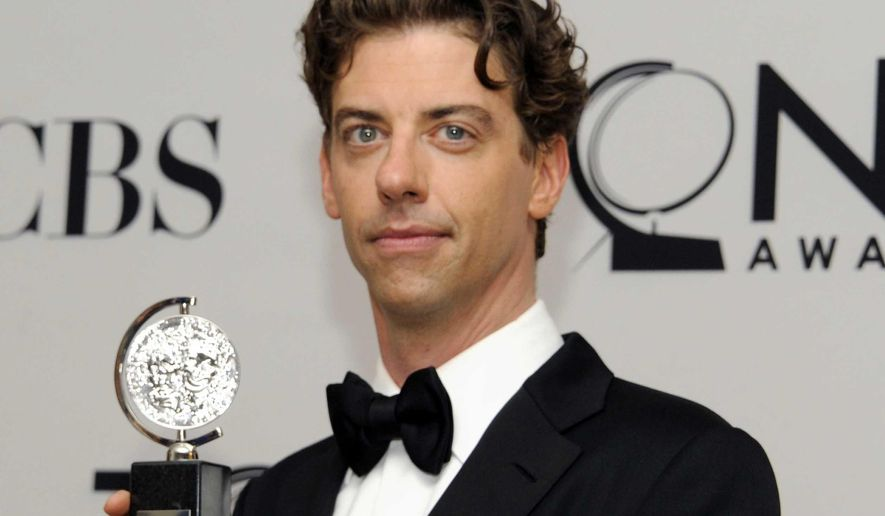 """FILE - In this June 10, 2012 file photo, Christian Borle poses backstage with his award at the 66th Annual Tony Awards in New York. Borle is featured on a  20-song cast album for the musical """"James and the Giant Peach"""" which will be available for free on the show's website on Tuesday, April 21, 2015. (Photo by Evan Agostini /Invision/AP, File)"""