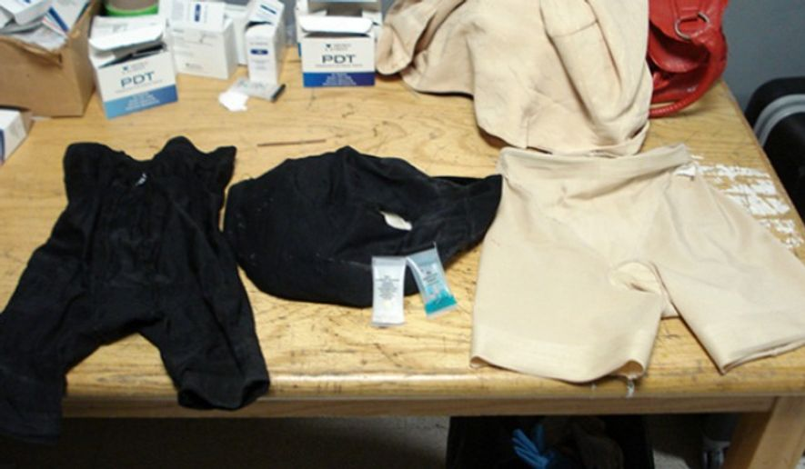 Olive Fowler, 70, was found with 4 pounds of cocaine in her underwear at John F. Kennedy International Airport on April 12, 2015. (U.S. Customs and Border Protection)