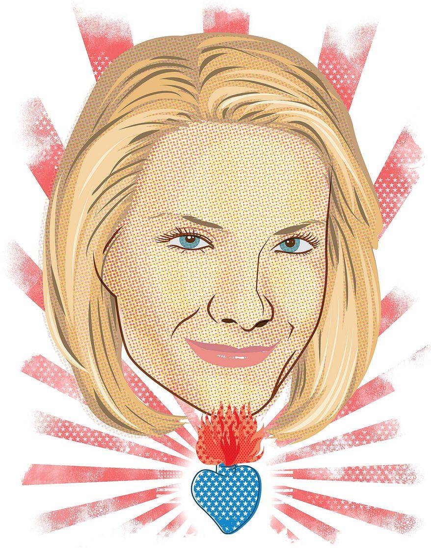 Illustration of Dana Perino by Linas Garsys/The Washington Times
