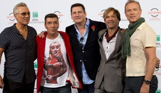 Members of the British band Spandau Ballet (from left) Martin Kemp, John Keeble, Tony Hadley, Steve Norman and Gary Kemp are gearing up for their first U.S. tour since their accidental U.K. reunion in 2009. (Associated Press)
