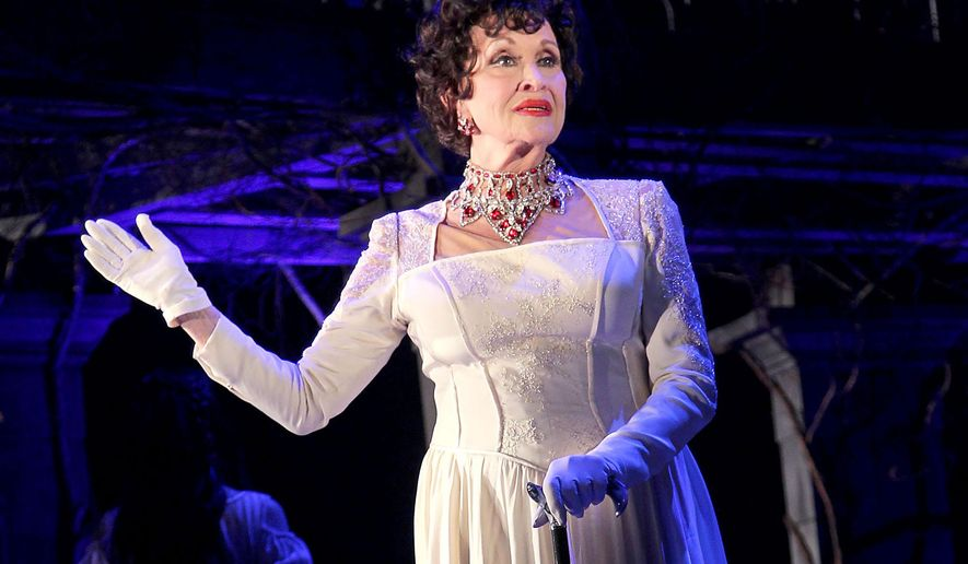 """In this Feb. 12, 2015 photo released by Starpix, Chita Rivera appears at a media event for Kander and Ebb's Final Musical, """"The Visit,"""" at The Lyceum Theatre in New York. (Aurora Rose/Starpix via AP)"""