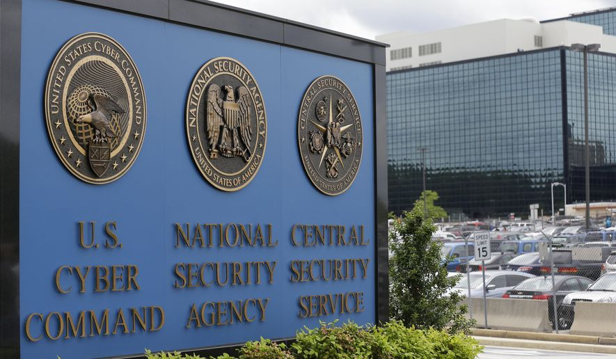 A sign stands outside the National Security Agency (NSA) campus in Fort Meade, Md., in this June 6, 2013, file photo. (AP Photo/Patrick Semansky, File)