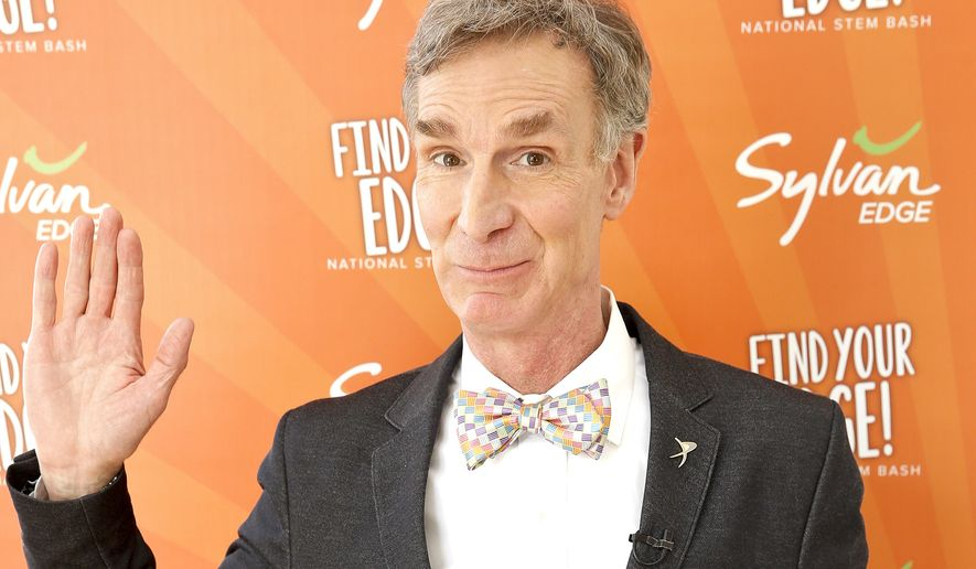 Television personality Bill Nye attends the launch of Sylvan EDGE at the Find Your EDGE event focusing on STEM on Tuesday, April 21, 2015, in New York. (Associated Press) ** FILE**