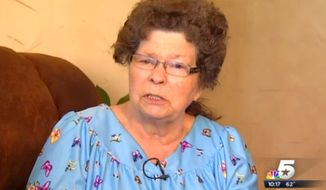 Jewell Turner, 74, told a would-be robber on April 20, 2015 that she would shoot the man in the face if he didn't walk away. (Image: NBC 5 Dallas Fort Worth screenshot)