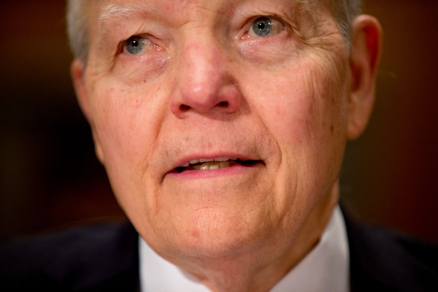 Internal Revenue Service Commissioner John Koskinen testifies on Capitol Hill in Washington on April 15, 2015. (Associated Press) **FILE**