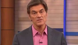 "Dr. Mehmet Oz declares during a special episode of ""The Dr. Oz Show"" that he and his team ""will not be silenced,"" following calls from a group of prominent physicians that the TV doctor's be dismissed from his faculty position at Columbia University. (The Dr. Oz show via CNN)"