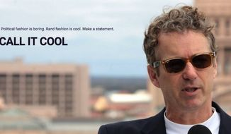 """Sen. Rand Paul's presidential campaign has reportedly stopped selling Ray-Ban Wayfarers imprinted with the """"Rand"""" logo, following complaints from the sunglasses company. (Store.RandPaul.com)"""