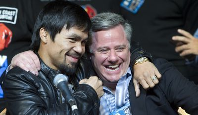 Manny Pacquiao and Fred Sternburg (Steve Marcus/Las Vegas Sun)