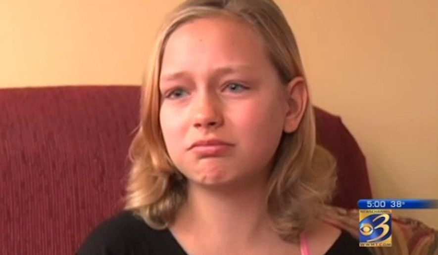 Rose McGrath, a 12-year-old cancer survivor, says she has been expelled from her Michigan middle school after her battle with leukemia caused her too miss too many classes. (WWMT) ** FILE **