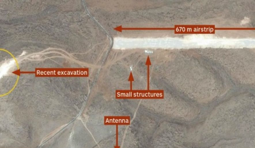 The global risk company IHS Jane's reported Friday, April 24, 2015 on the discovery of a drone airstrip used by Hezbollah in Lebanon. (Image: IHS Jane's)