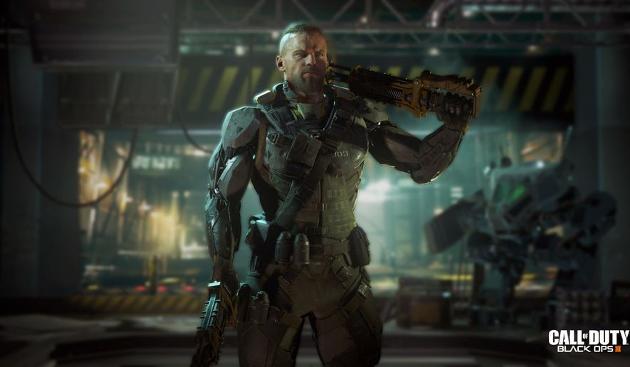 """This image released by Activision shows a scene from """"Call of Duty: Black Ops 3,"""" the third installment in Treyarch's military shooter saga, scheduled for release Nov. 6. (Activision via AP)"""