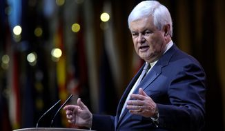 Former House Speaker Newt Gingrich has accused former Secretary of State Hillary Rodham Clinton of breaking the law by accepting foundation donations from foreign governments during her tenure at the State Department. (Associated Press)