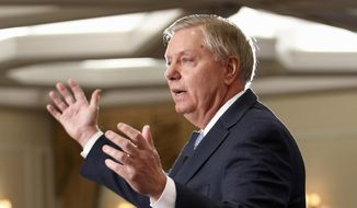Sen. Lindsey Graham, R-S.C., speaks in Nashua, N.H., in this April 18, 2015, file photo. (AP Photo/Jim Cole, File)