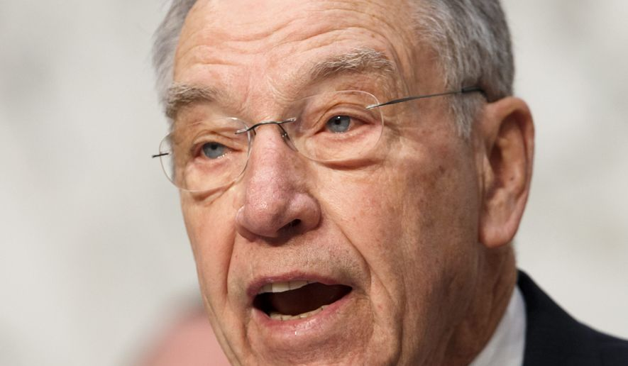 Senate Judiciary Committee Chairman Chuck Grassley, Iowa Republican, has been joined by other lawmakers from both sides of the aisle, as well as libertarians and the billionaire Koch brothers, in calling for reform to the criminal justice system. (Associated Press)
