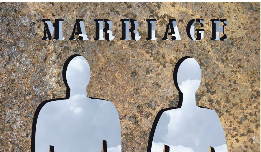 Illustration on the actual nature of marriage laws by Alexander Hunter/The Washington Times