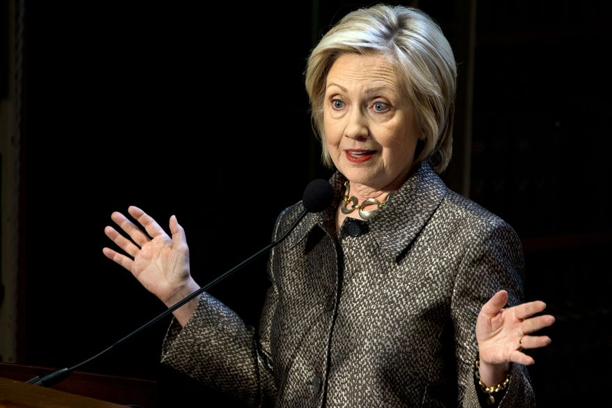 Former Secretary of State Hillary Clinton. (Associated Press)