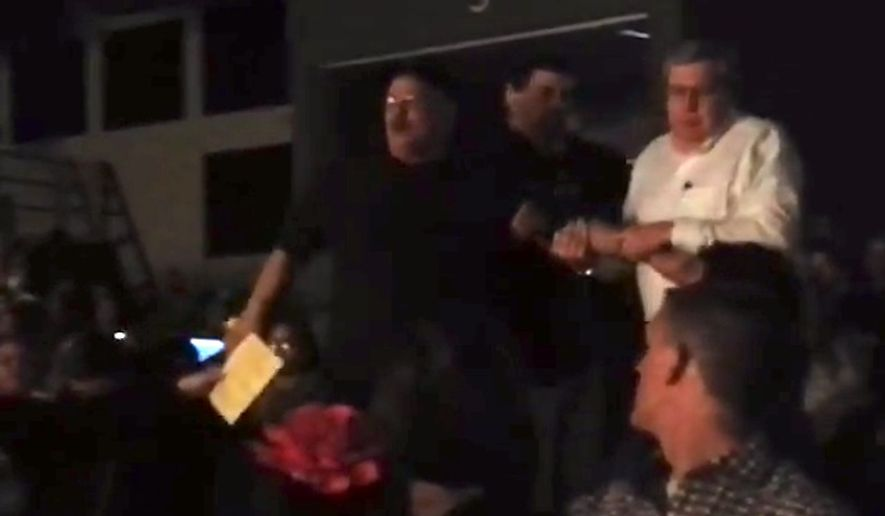 """An Iowa man was forcibly removed from a kindergarten concert in Perry Thursday night after he started chanting, """"English only, USA!"""" as soon as a Spanish speaker began her introduction. (YouTube/Jeremy Golumski)"""