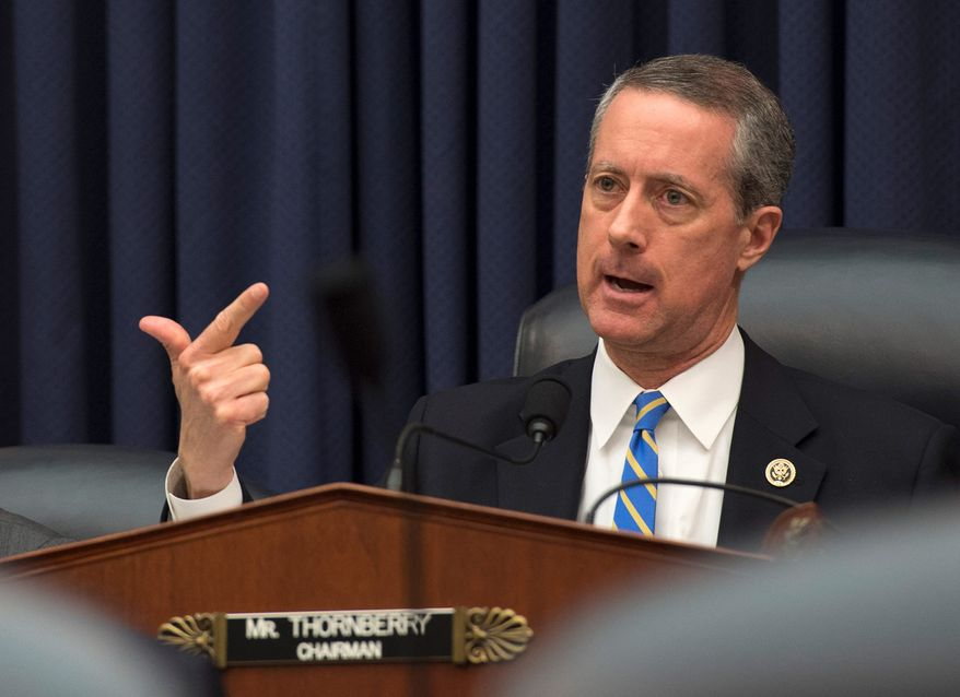 House Armed Services Committee Chairman Rep. Mac Thornberry, Texas Republican. (Associated Press) ** FILE*