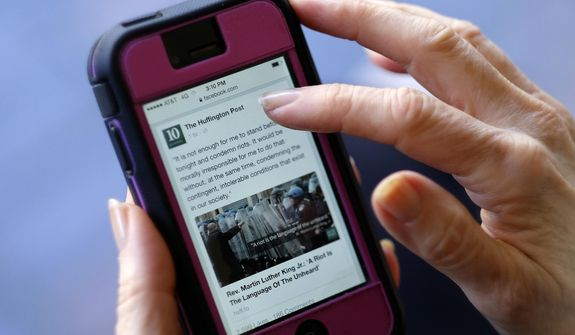 Internet algorithms decide what news reaches the eyes and ears of Americans in an increasingly Google-Facebook-Twitter media environment. (Associated Press/File)