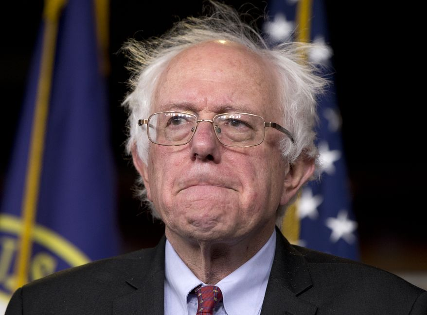 Sen. Bernie Sanders, I-Vt., participates in a news conference on Capitol Hill in Washington, Wednesday, April 29, 2015. Sanders will announce his plans to seek the Democratic nomination for president on Thursday, presenting a liberal challenge to Hillary Rodham Clinton. (AP Photo/Carolyn Kaster)