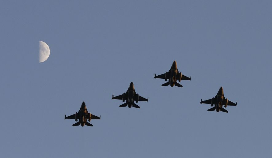 Iraq's besieged military was supposed to be flying front-line American F-16 fighters by now, joining other Arab forces in a daily air war against the Islamic State terrorist army controlling western and northern Iraq. But while the war rages, there is no firm F-16 arrival date. (Associated Press)