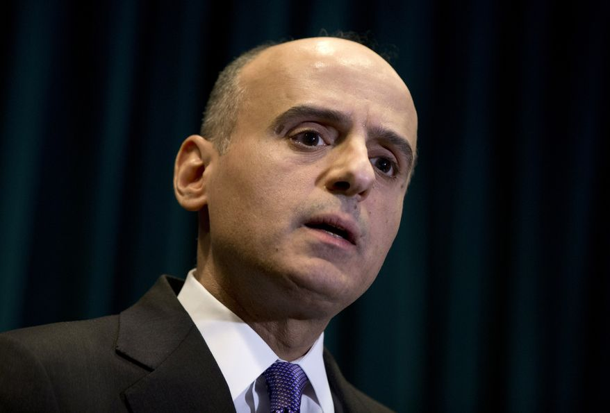 FILE - In this March 25, 2015 file photo, then Saudi Arabian Ambassador to the U.S. Adel Al-Jubeir speaks during a news conference at the Royal Embassy of Saudi Arabia in Washington. On Wednesday, April 29, 2015, King Salman replaced Foreign Minister Saud al-Faisal -- who has held the position for 40 years -- with Adel al-Jubeir, the ambassador to the U.S., who is not a member of the royal family but has been the public face of the Yemen air campaign. (AP Photo/Carolyn Kaster, File)