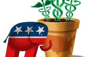 Illustration on GOP alternatives to Obamacare by Alexander Hunter/The Washington Times