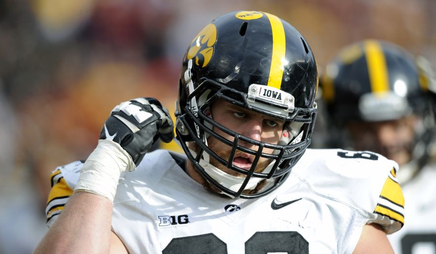 The Washington Redskins selected offensive tackle Brandon Scherff of Iowa with the No. 5 pick in the first round of the 2015 NFL Draft. (Associated Press)