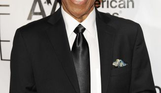 "FILE - In this June 14, 2012, file photo, Towering Performance Award inductee Ben E. King arrives at the 2012 Songwriters Hall of Fame induction and awards gala in New York. King, singer of such classics as ""Stand By Me,"" ""There Goes My Baby"" and ""Spanish Harlem,"" died Thursday, April 30, 2015, publicist Phil Brown told The Associated Press. He was 76. (Photo by Evan Agostini/Invision, File)"