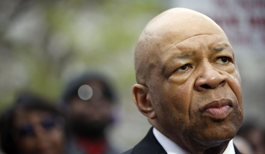 Rep. Elijah Cummings, D-Md., speaks during a media availability, Friday, May 1, 2015, in Baltimore. (AP Photo/Alex Brandon) ** FILE **