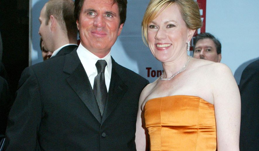 """FILE - In this June 6, 2004 file photo, sibling directors Rob Marshall, left, and Kathleen Marshall arrive to the 58th Annual Tony Awards at Radio City Music Hall, in New York. The Marshall siblings have left a powerful one-two punch on stage and screen, separately creating the Broadway hits """"Anything Goes"""" and """"Cabaret"""" to movies like """"Into the Woods"""" and """"Memoirs of a Geisha."""" (AP Photo/Diane Bondareff, File)"""