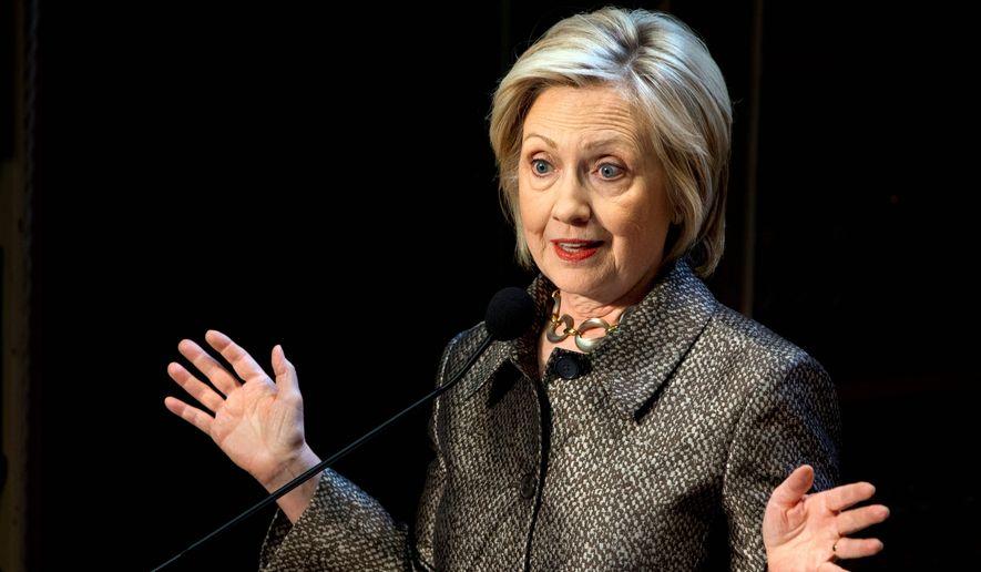 Democratic presidential candidate Hillary Rodham Clinton. (Associated Press) ** FILE **