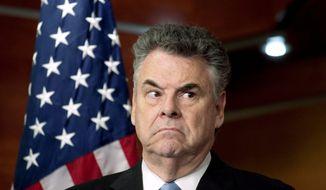 Rep. Peter King, New York Republican (Associated Press) **FILE**