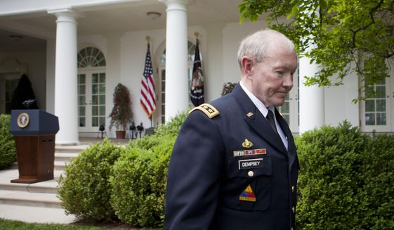 After Gen. Martin Dempsey stepped down as chairman of the Joint Chiefs of Staff, the Obama administration all but removed land mines from the U.S. arsenal. (Associated Press/File)