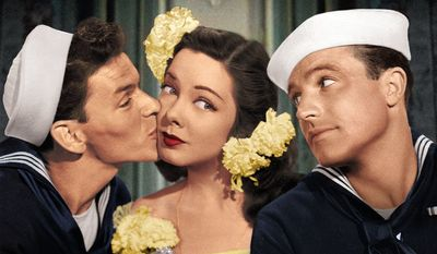 Frank Sinatra, Kathryn Grayson and Gene Kelly star in Anchors Aweigh, now available in Blu-ray from Warner Home VIdeo.