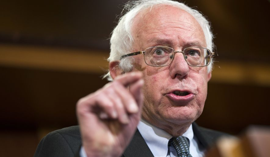 Democratic presidential candidate Sen. Bernie Sanders, I-Vt., speaks during a news conference on Capitol Hill in Washington, Wednesday, May 6, 2015. (AP Photo/Evan Vucci) ** FILE **