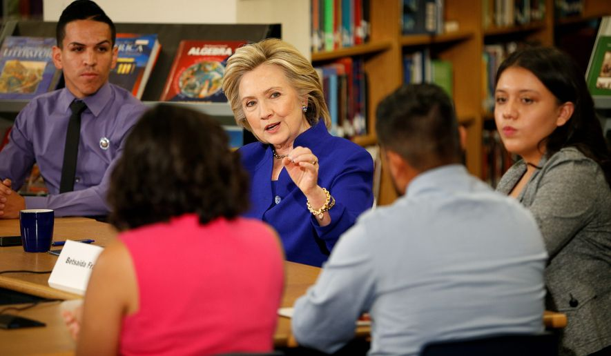 Democratic presidential candidate Hillary Rodham Clinton has released a bold immigration agenda that has activists and even the White House questioning just how much action she could take within the law if she becomes the nation's chief executive. (Associated Press)