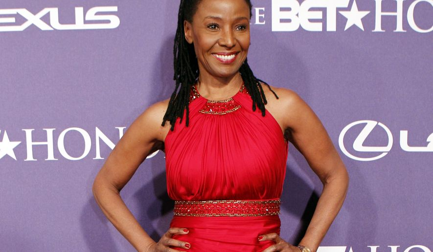 FILE - In this Jan. 14, 2012 file photo, former model and restaurateur B. Smith arrives at the BET Honors red carpet in the Warner Theatre in Washington. Broadway stars and singers will come together Monday, May 11, 2015, to celebrate Smith and raise money to help people with Alzheimer's disease. B. Smith, became one of the first African-American models on the cover of Mademoiselle and later opened restaurants, revealed last year that she has Alzheimer's disease. (AP Photo/Jose Luis Magana, File)