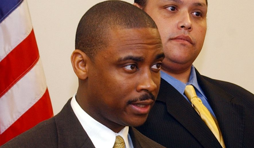 Clayton County Sheriff Victor Hill has been charged with reckless conduct in the shooting that critically wounded 43-year-old real estate agent Gwenevere McCord. (Associated Press)