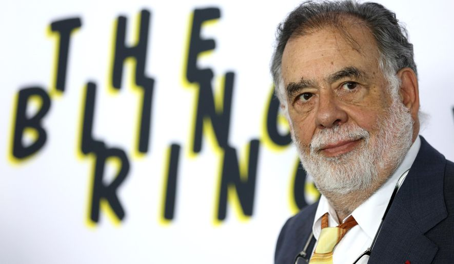 """FILE -In this June 4, 2013 file photo, Francis Ford Coppola arrives at the LA premiere of """"The Bling Ring"""" at the Director's Guild of America in Los Angeles. On Wednesday, May 6, 2015 U.S. film director Francis Ford Coppola was awarded Spain's Princess of Asturias arts prize for his outstanding contribution to the film world. (Photo by Matt Sayles/Invision/AP, File)"""