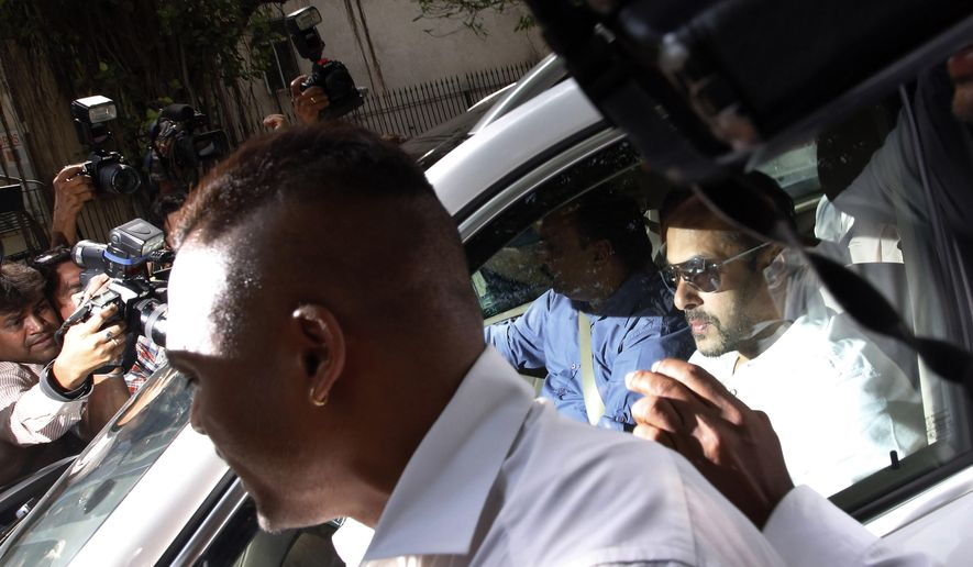 Bollywood actor Salman Khan arrives at a court in Mumbai, India, Wednesday, May 6, 2015. Media reports say a Mumbai court has held Khan guilty of running over five men sleeping on a sidewalk, killing one in a 2002 hit-and-run case. The court on Wednesday charged Khan with culpable homicide, saying all charges against him had been proved, Press Trust of India said. (AP Photo/Rajanish Kakade)