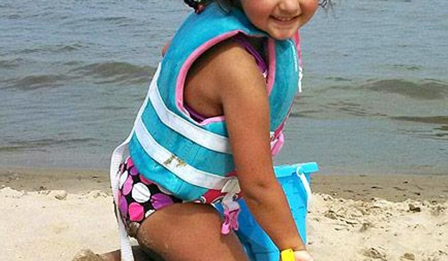 This undated photo provided by Margarita Fogl show Laylah Petersen. Petersen was 5-years-old when she was fatally shot in November 2014 in Milwaukee while sitting on her grandfather's lap. The family announced Wednesday, May 6, 2015, a significant increase to the reward in her case. (Margarita Fogl via AP)