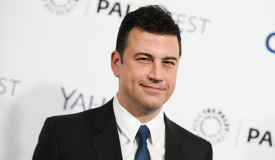 """Jimmy Kimmel arrives at the 32nd Annual Paleyfest: """"Scandal"""" held at The Dolby Theatre in Los Angeles in this March 8, 2015, file photo. Kimmel is choosing not to air a new episode of his talk show opposite David Letterman's final """"Late Show"""" installment. (Photo by Richard Shotwell/Invision/AP, File)"""